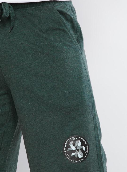 MAX Solid Drawstring Waist Shorts