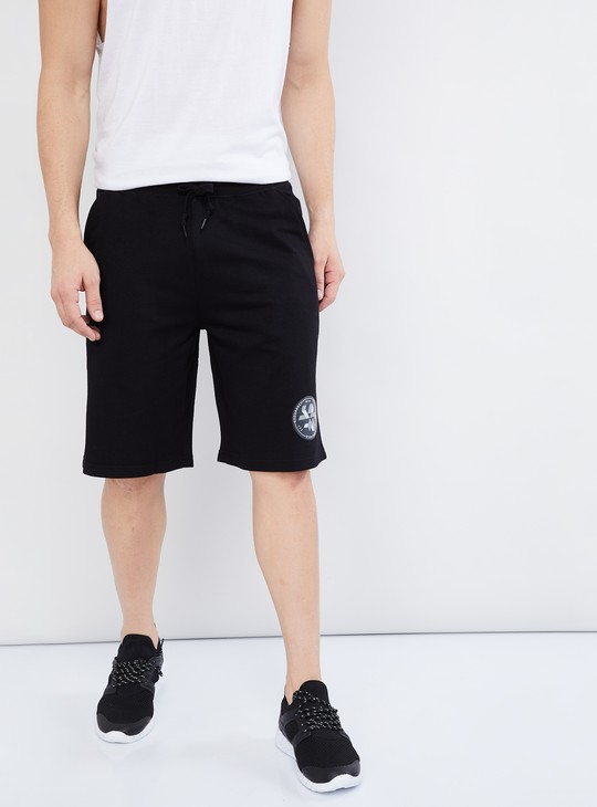 MAX Solid Drawstring Waist Shorts