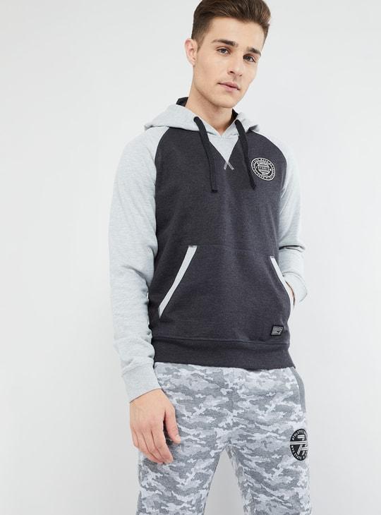MAX Raglan Sleeve Colourblock Hoodie