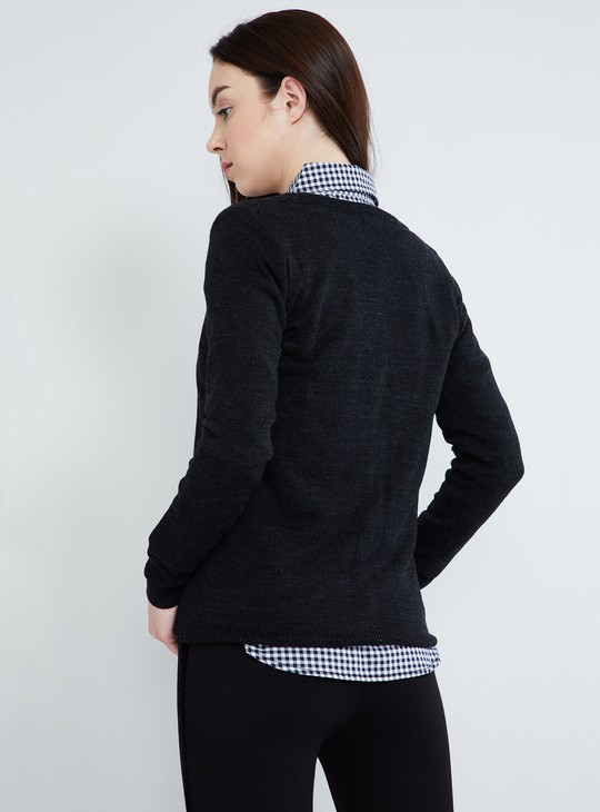 MAX Solid Button Down Cardigan