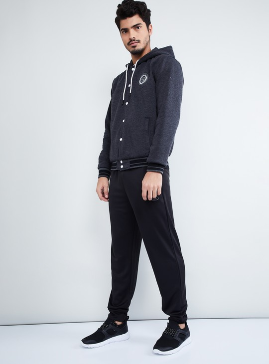 MAX Button Placket Reversible Hooded Jacket