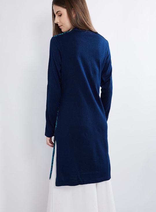 MAX Floral Textured Sweater Kurta