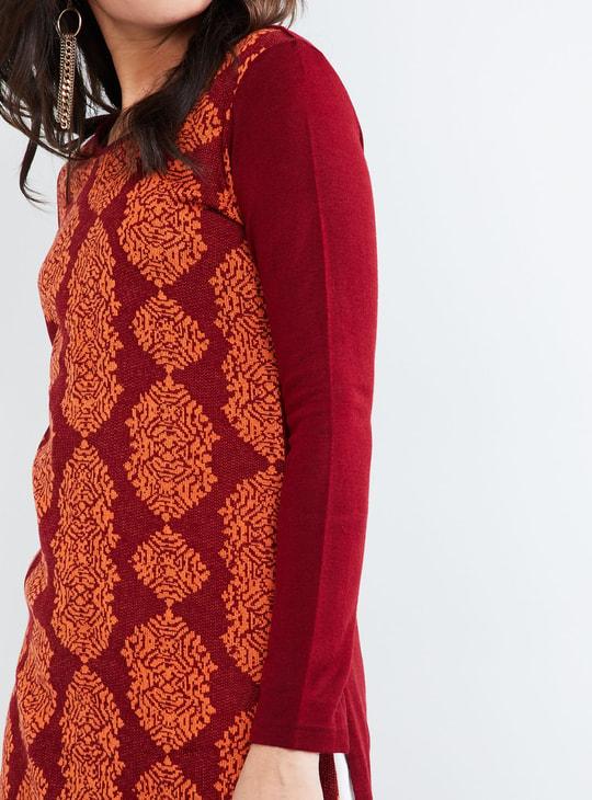 MAX Printed Long Sleeve Sweater Kurta
