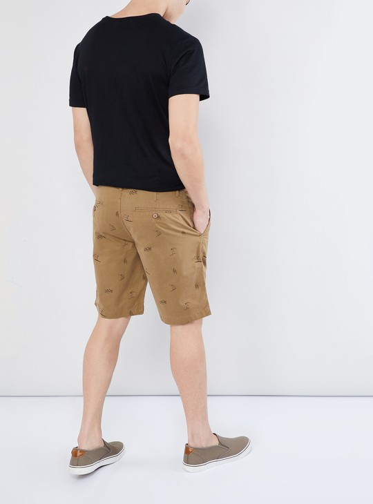 MAX Printed Flat-Front Shorts