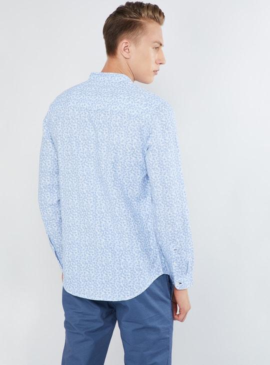 MAX Printed Band Collar Shirt