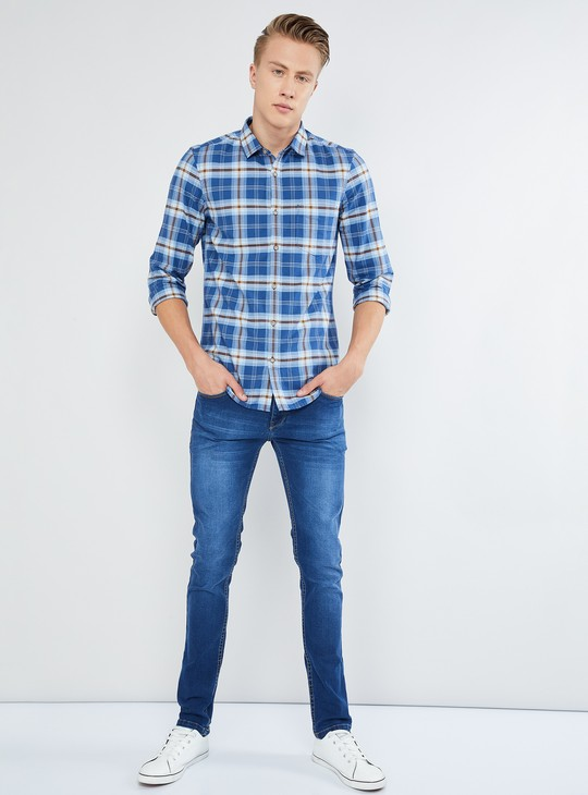 MAX Checks Roll-Up Sleeves Shirt