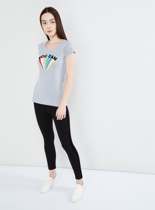 MAX Typography Print Cap Sleeve T-shirt