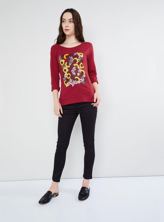 MAX Floral Print Long Sleeve T-shirt