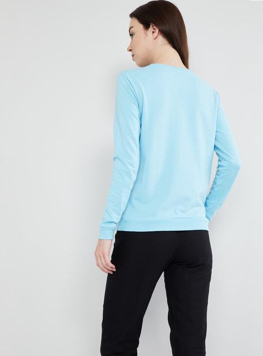 MAX Typography Print Long Sleeve Sweatshirt