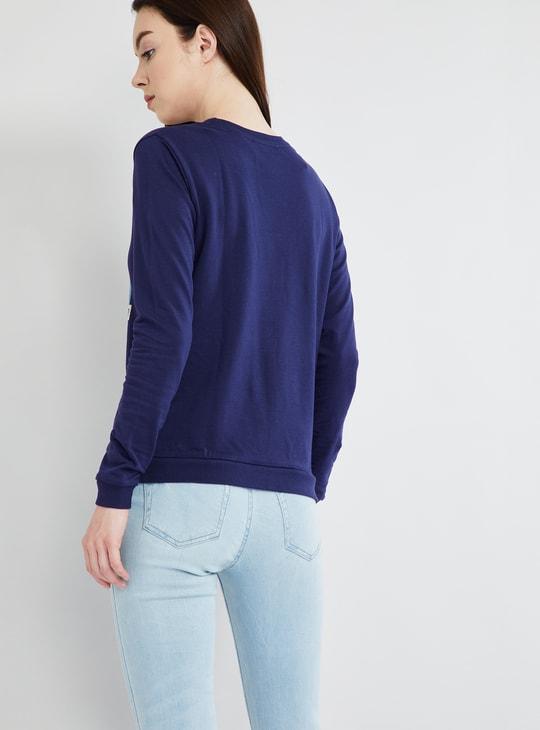 MAX Graphic Print Long Sleeve Sweatshirt