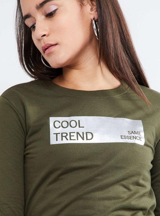 MAX Long Sleeve Printed Sweatshirt