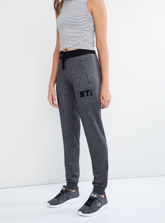 MAX Patterned Zip Pocket Joggers