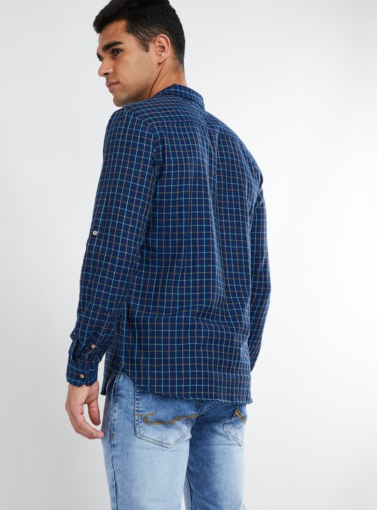 MAX Checked Rolled-Up Sleeve Shirt