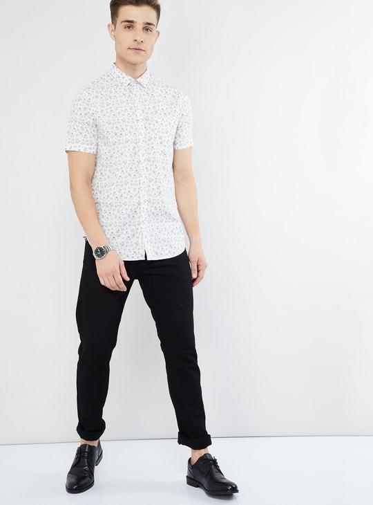 MAX Floral Print Short Sleeve Shirt