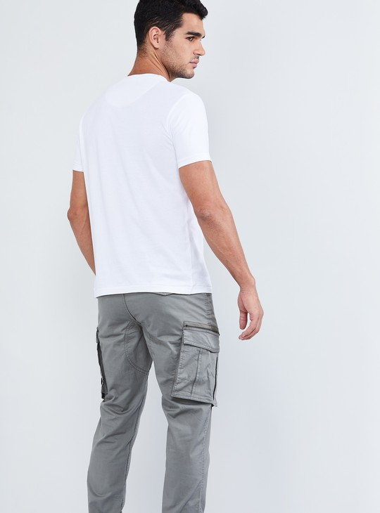 MAX Mesh Panel Crew-Neck T-shirt
