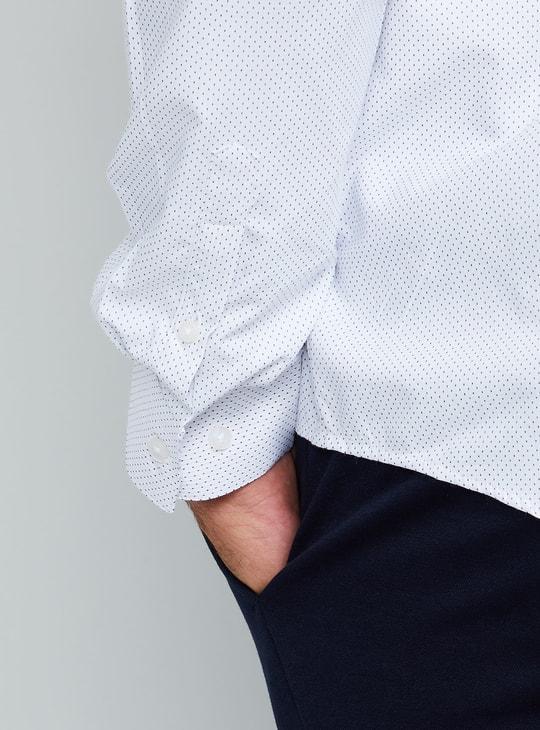 MAX Polka Textured Full Sleeves Shirt