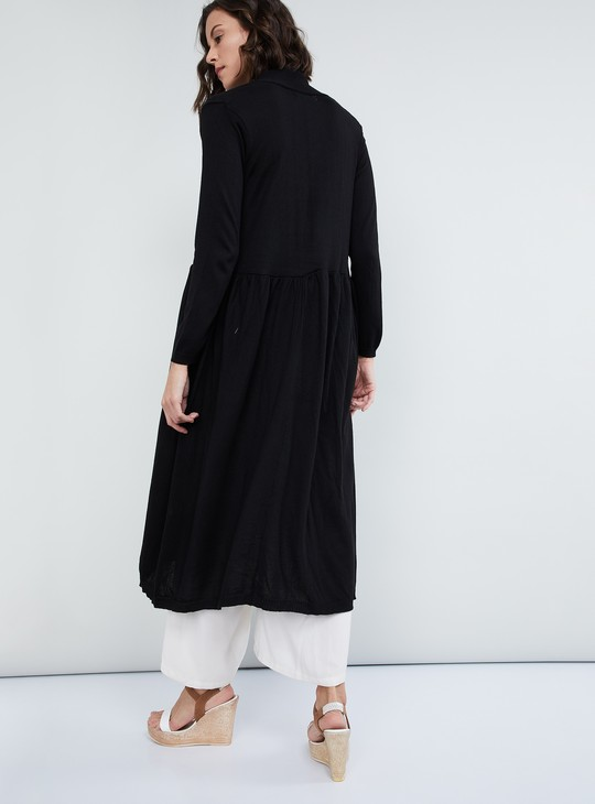 MAX Solid Knitted Maxi Shrug
