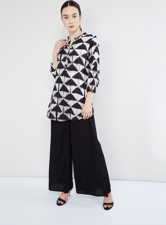 MAX Dripping Print Buttoned Tunic