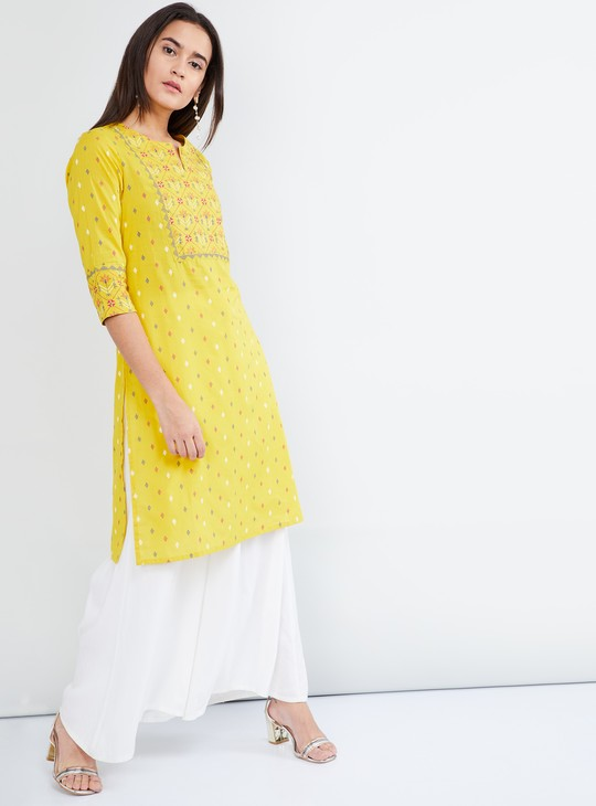 MAX Printed Straight Cut Kurta
