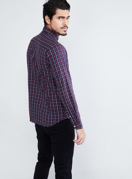 MAX Checked Button-Down Collar Casual Shirt
