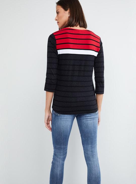 MAX Striped Colourblock T-shirt