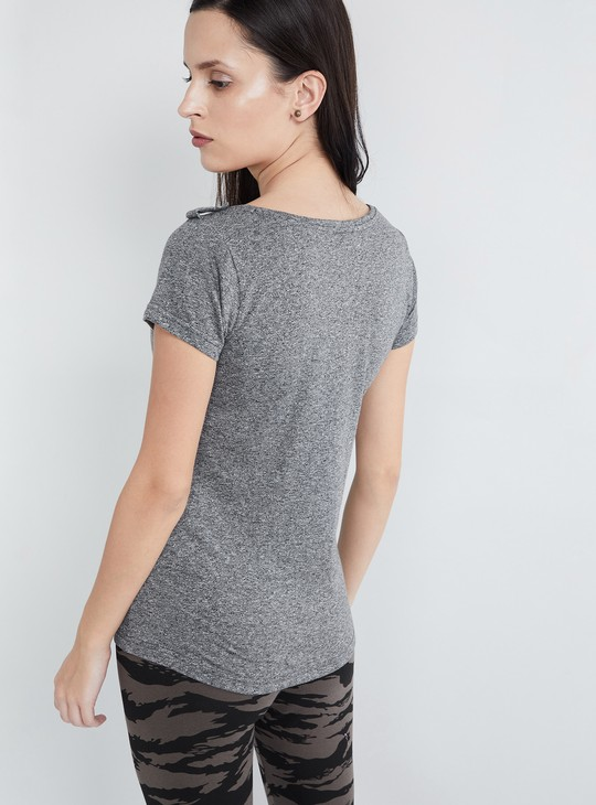 MAX Grindle Textured Placket Detail Top