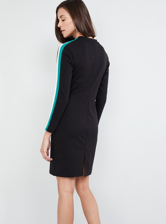 MAX Solid Tape Detailed Dress