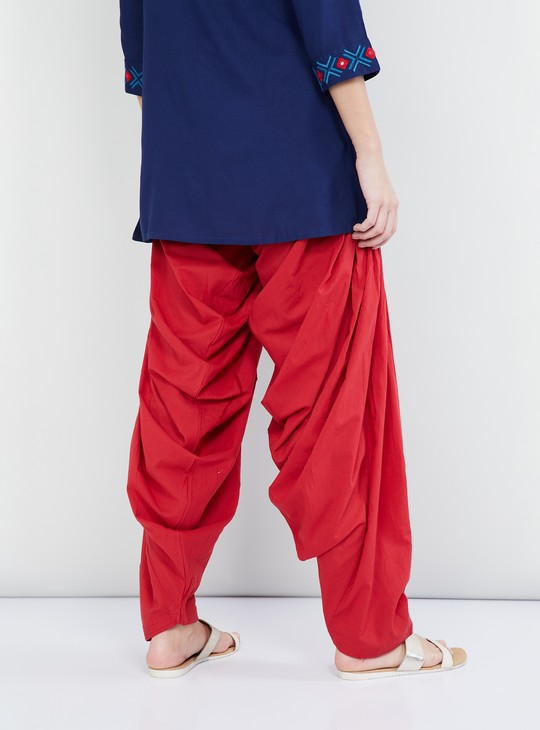 MAX Solid Salwar With Knife Pleatings