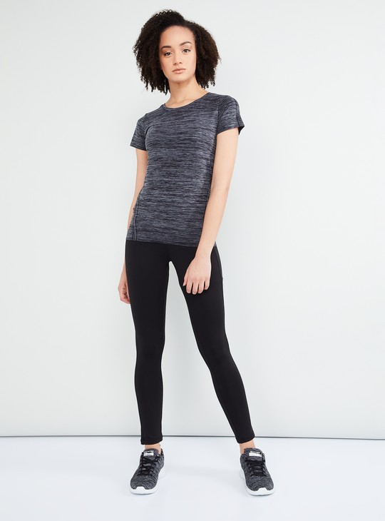 MAX Stretchable Round Neck Sporty Top