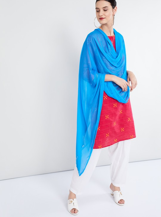 MAX Solid Dupatta With Bead Embellishments