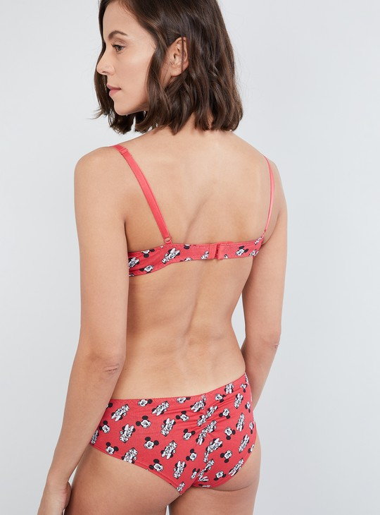MAX Mickey Mouse Print Padded Bra