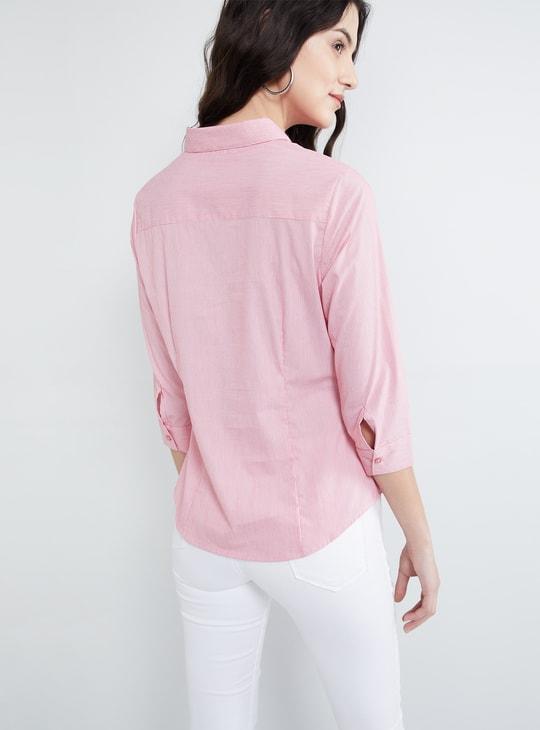 MAX Pinstriped Full Sleeves Shirt