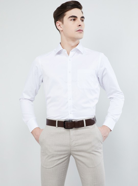 MAX Solid Cotton Formal Shirt