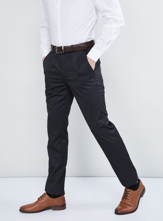MAX Solid Slim Fit Trousers
