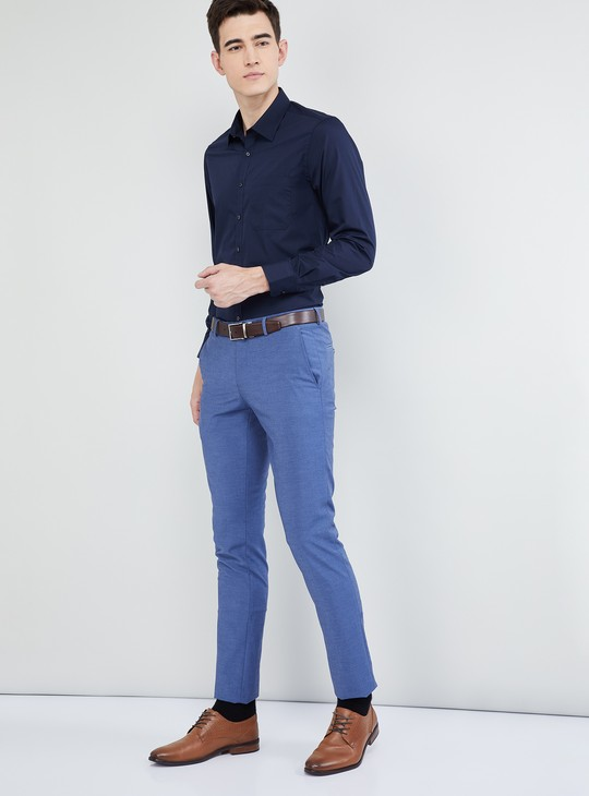 MAX Solid Full Sleeves Formal Shirt