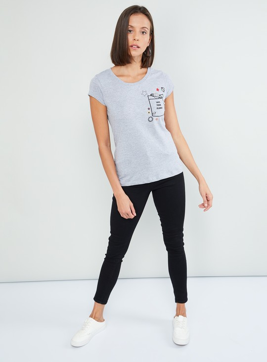 MAX Printed T-shirt with Sequins