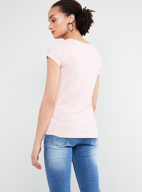 MAX Printed Cap Sleeve Top
