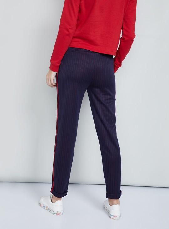 MAX Panelled Striped Trousers