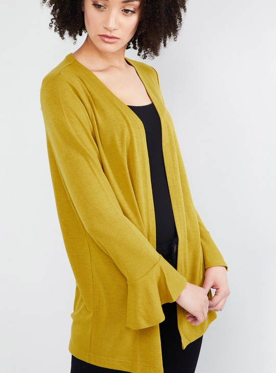 MAX Solid Bell Sleeve Shrug