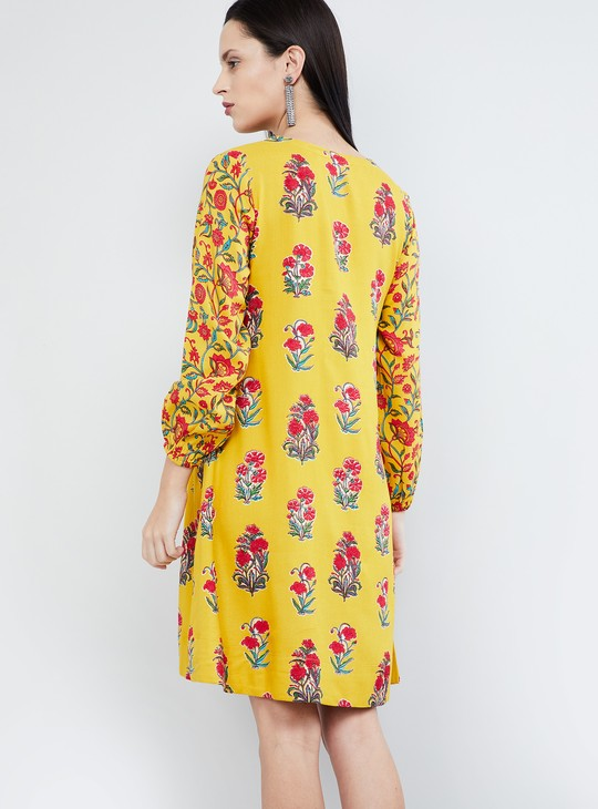 MAX Floral Print Full Sleeves Dress