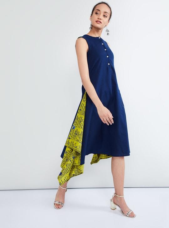 MAX Asymmetrical Midi Sleeveless Dress