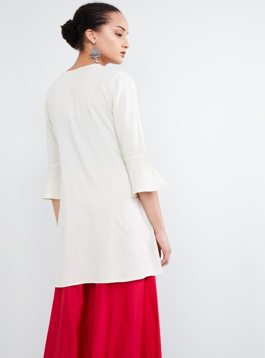 MAX Embroidered Three-Quarter Sleeve Tunic