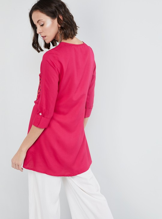 MAX Embroidered High-Low Tunic
