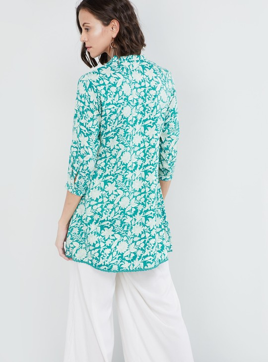 MAX Floral Print Pin-pleat Kurti