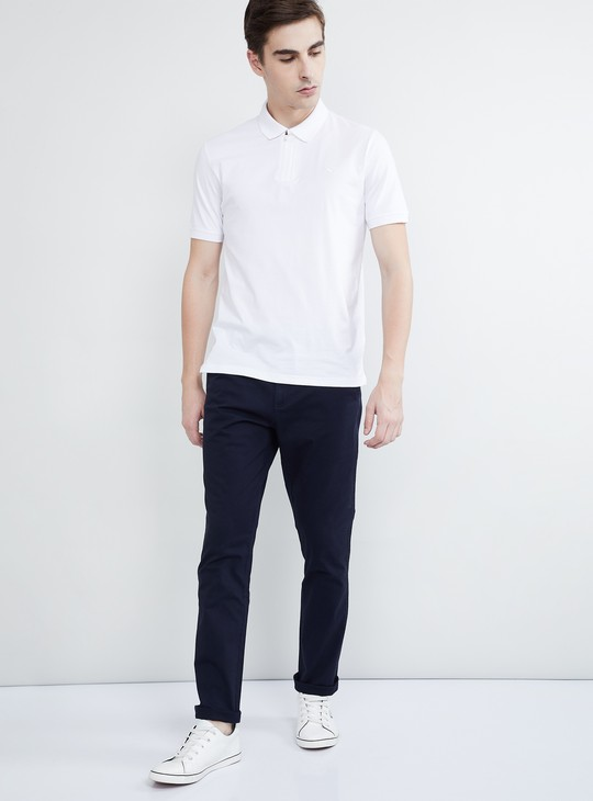 MAX Solid Slim Fit Low Rise Chinos