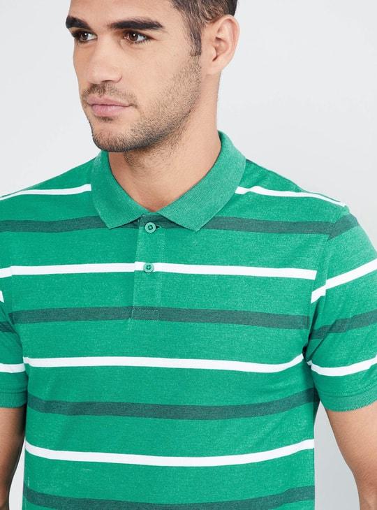 MAX Striped Pique Polo T-shirt