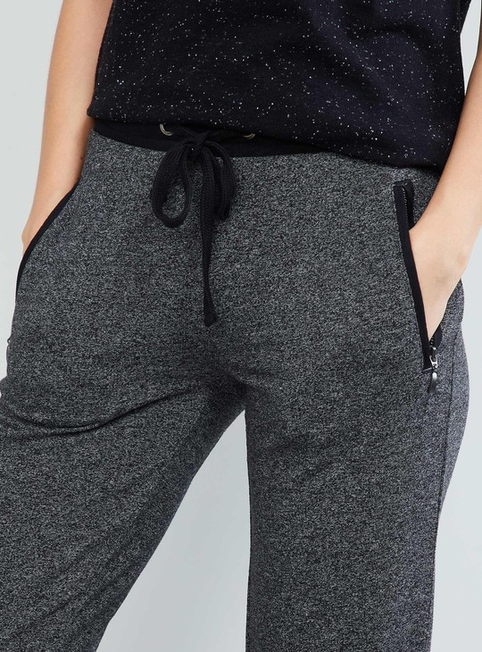 MAX Textured Tie-Up Detail Track Pants
