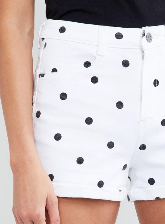 MAX Polka-Dot Print Casual Shorts