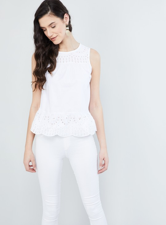 MAX Embroidered Sleeveless Top