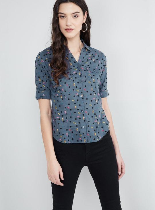 MAX Printed Flap Pocket Shirt